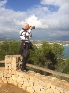 Keith photographing landscape